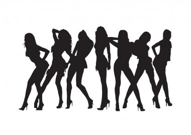Sexy girls silhouette.