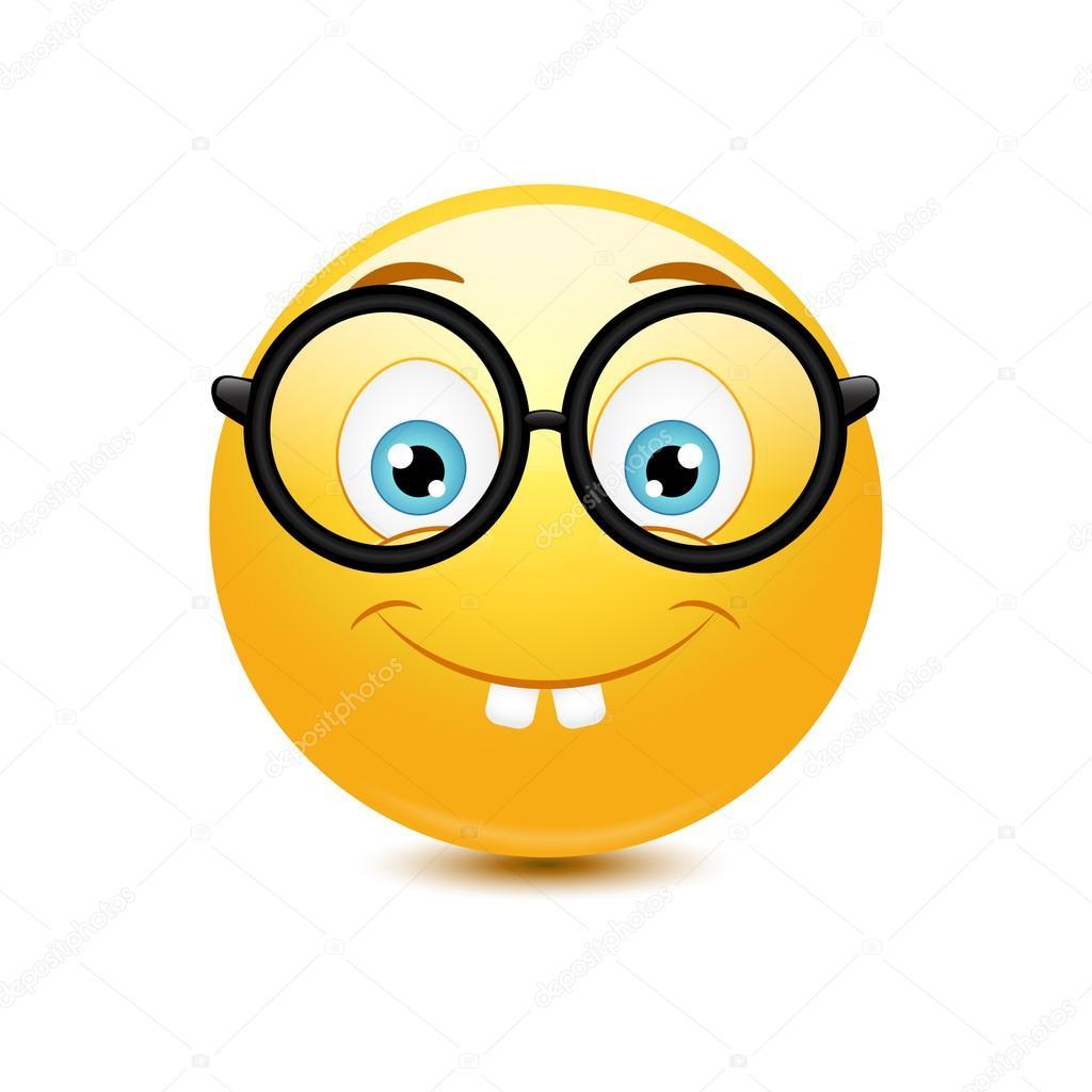Risultati immagini per emoticon nerd