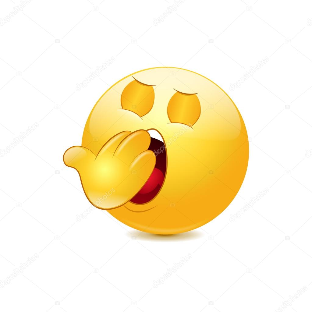 Yawn emoticon — Stock Vector © Jonatan08 #45461275 for Clipart Yawn  146hul