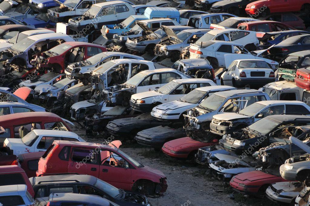Old Junk Cars On Junkyard — Stock Photo © underworld1 #45247889
