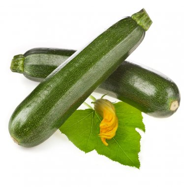 Fresh zucchini courgette isolated on a white background