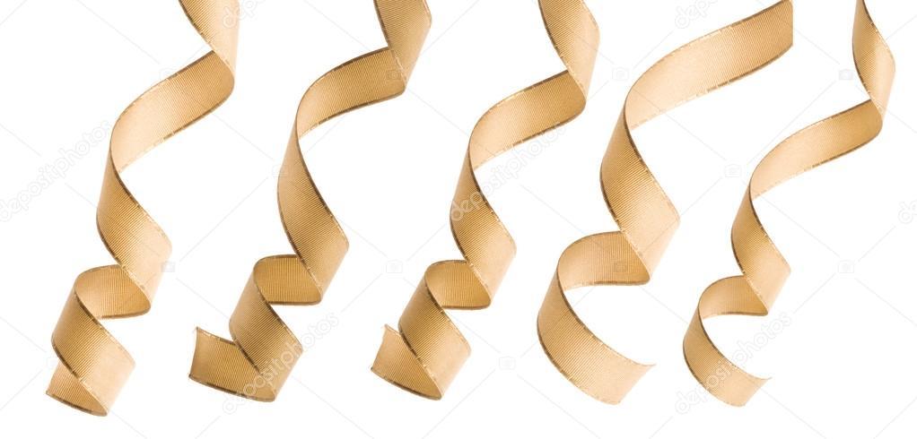 Beige ribbon curl — Stock Photo © Madllen #13835060