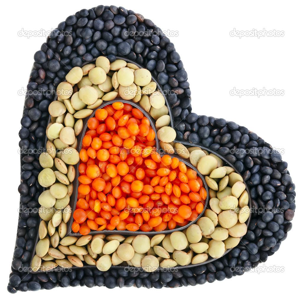 Diferentes tipos de granos de lentejas en forma de coraz n for Tipos de granitos