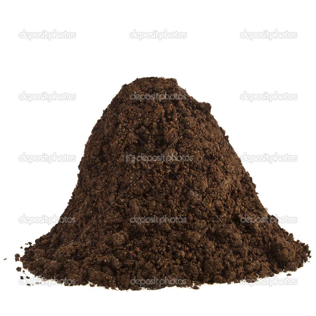 Pile of soil humus isolated on white stock photo for Where can i find soil