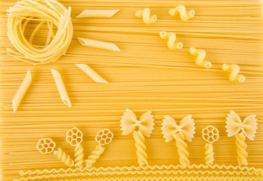 Abstract solar picture of Italian pasta