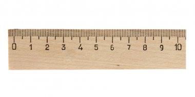 Measuring wooden ruler