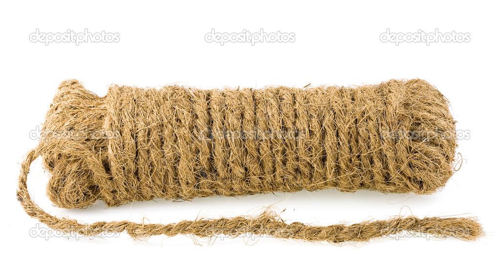 Coco gruesa cuerda de fibra de coco — Foto de stock © Madllen  14162012 04b75381443