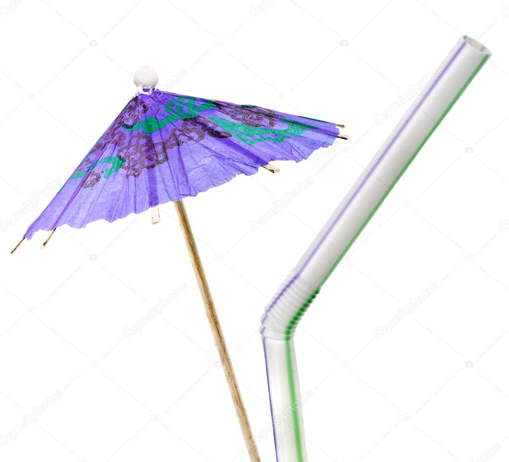 Cocktail Umbrella And Drinking Straw U2014 Photo By Madllen