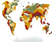 Weltkarte der Gewürze und Kräuter