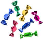 barevné bonbóny izolovat