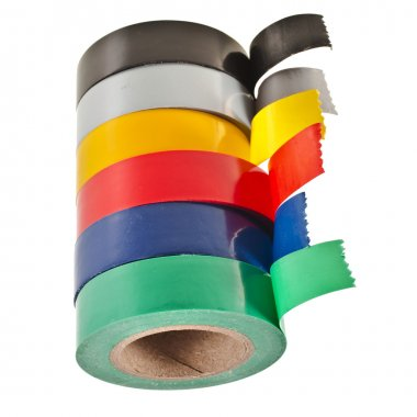 Colored adhesive tape roll