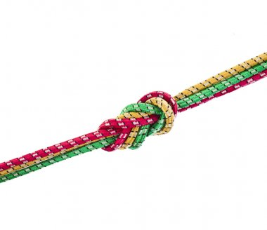 Colorful string rope