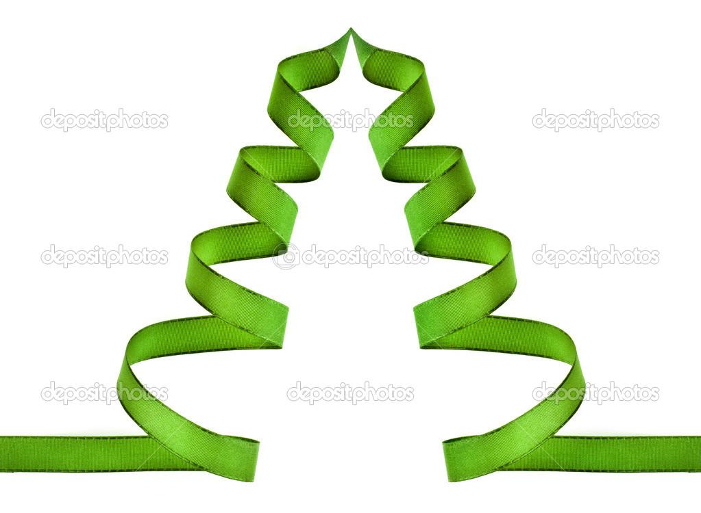 Rbol de navidad de cinta cinta verde foto de stock - Cinta arbol navidad ...