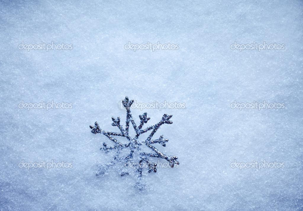 winter snow background with snowflake  u2014 stock photo