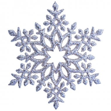 Snowflake shape decoration isolated