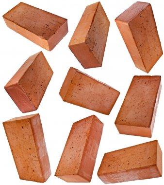 red bricks isolated on white background
