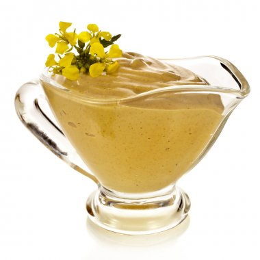 Mustard dish sauce and mustard flower
