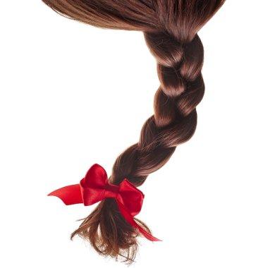 Colored natural hair braided