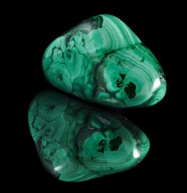 Malachite mineral stone close up