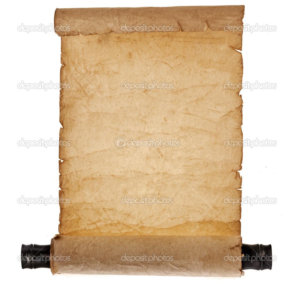 Uralte Antike Schriftrolle Leer Stockfoto 41479391