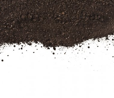 Pile heap of soil humus isolated on white background stock vector