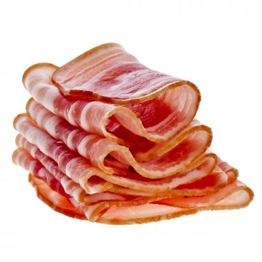 Bacon Slices isolated On White Background stock vector