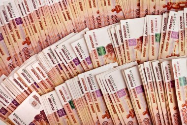 One Million Russian rubles banknotes