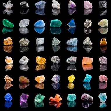 Collection set of semi-precious gemstones