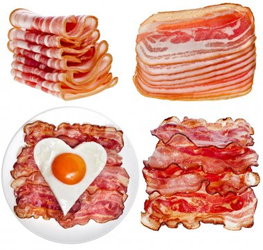 Collection set of Bacon Slices