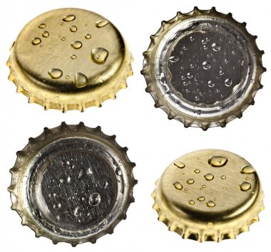 Collection set of beer bottle caps