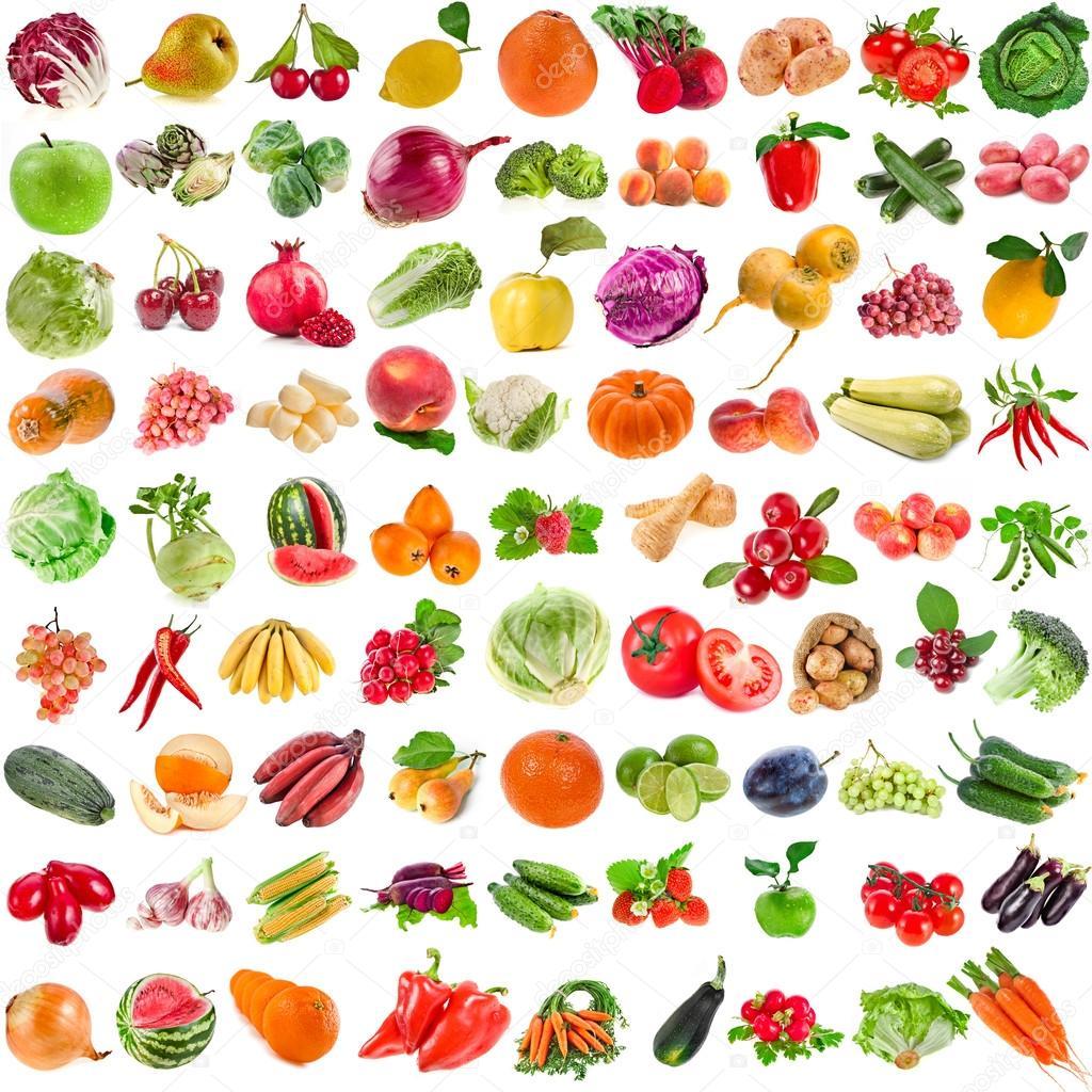 Set of Vegetables,  Fruits, Berries