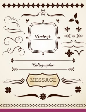 Calligraphic and vintage page decoration