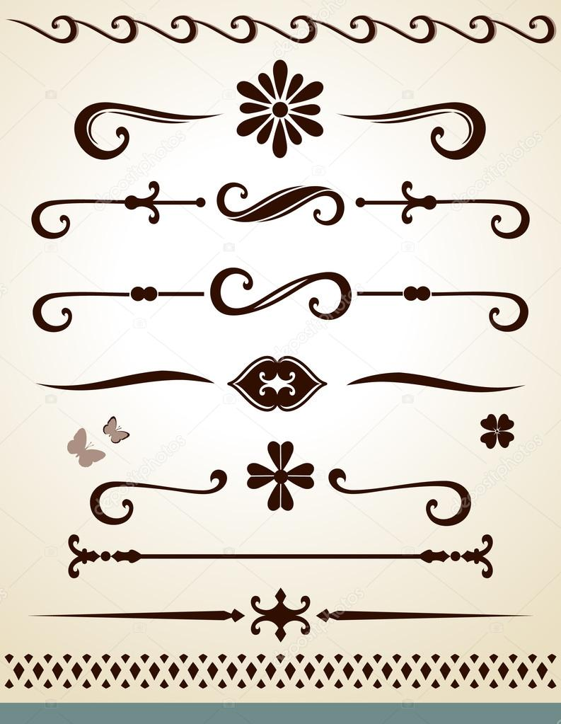 Page and Text separators and decorations