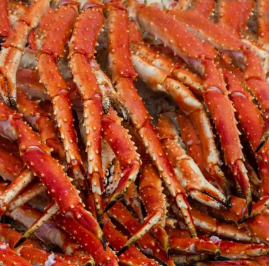 Meat of king crabs