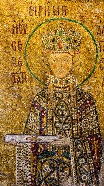 Icon of Saint Irina in interior of Hagia Sophia - greatest monum