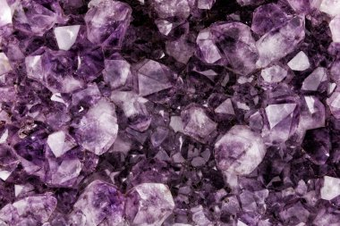 Amethyst closeup background, Quartz, Silicon Dioxide, Isolated on white background stock vector