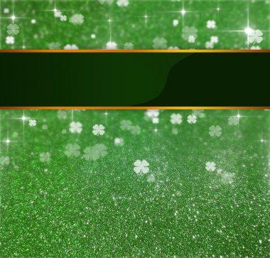 St. Patricks Day Glitter Clover