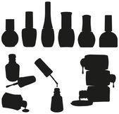 Set von Vektor-Nagellackflaschen
