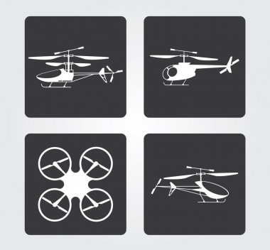 Website and Internet icons: RC models helicopters