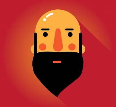 Simple web Illustration: beards and mustaches
