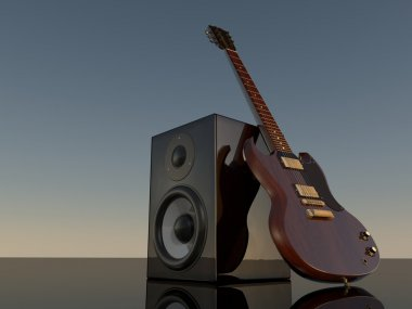 loudspeaker and E-Guitar