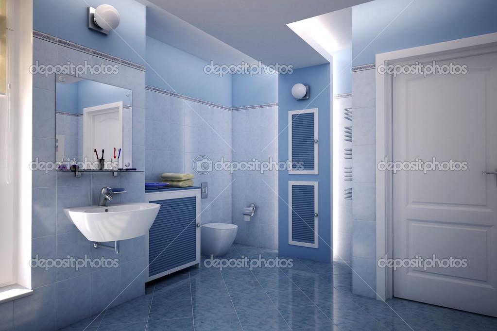 kék fürdőszoba — Stock Fotó © suzi44 #48490187
