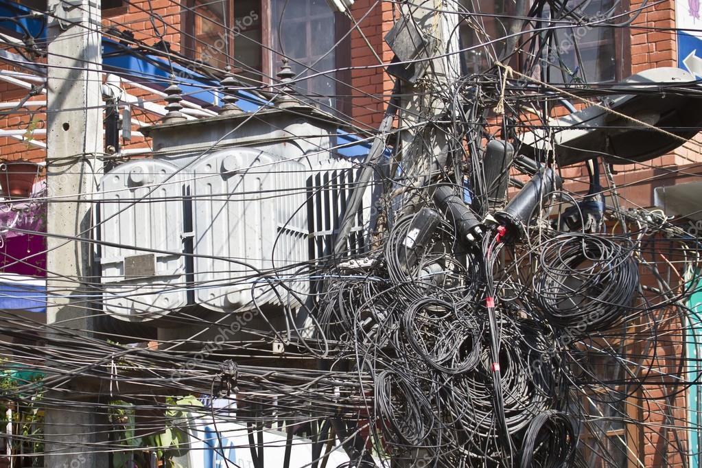 Messy Electricity Power Setting Kathmandu Nepal Stock Photo C Utopia 88 34638595