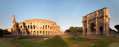 Panorama of the Colosseum and Arch of Constantine