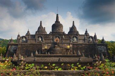 Banjar budhist temple in Indonesia