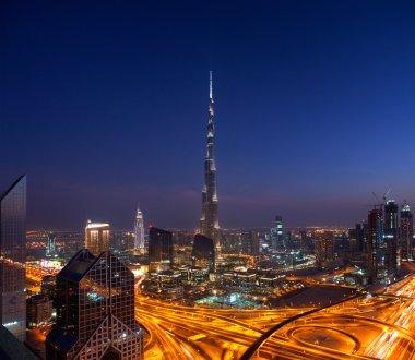 A skyline view of Downtown Dubai