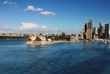 A Skyline View of the Sydney Opera House and skyscrapers
