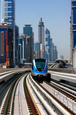 The Dubai Metro runs sum 40 km along Sheikh Zayed Road