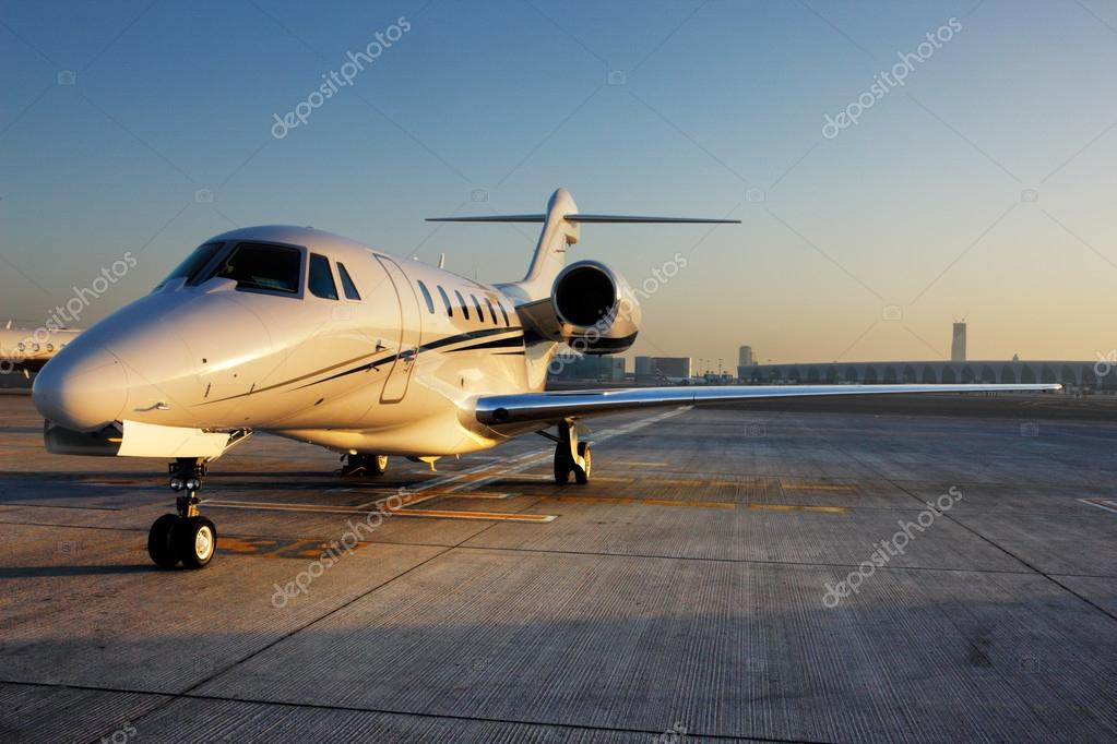 Beautiful shape of a private jet