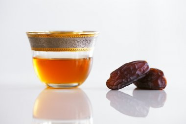 Dried dates and Arabic tea